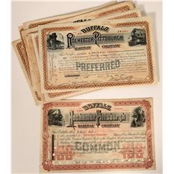 Buffalo, Rochester & Pittsburgh Railway Co. Stock Certificates  107511