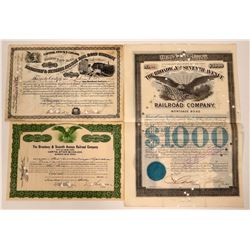 Broadway & Seventh Avenue Railroad Co. Bond & Stocks  107553