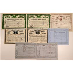 Cincinnati Railroad Stock Certificates (8)  106675
