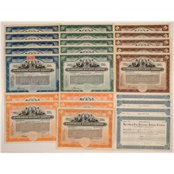 Harrisburg Railways Stock Certificate Collection (24)  106845