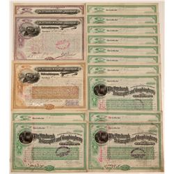 The Pittsburgh, McKeesport and Youghiogheny Railroad Company Stock Certificates (15)  105913