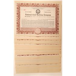National Coal Railroad Certificate Collection  105796