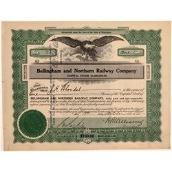 Bellingham & Northern Railway Co. Stock Certificate--No. 2  106757