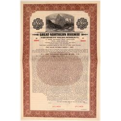 Great Northern Railway Specimen $1,000 Bond  106691