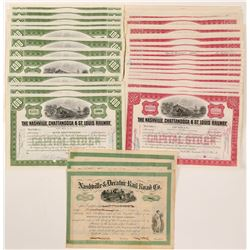 Nashville  & Decatur Railroad Co. Stock Certificates  106199