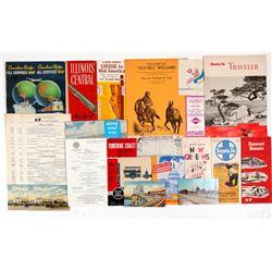 Railroad Ephemera  / 8 Items ( 24 Pieces Total )  106267