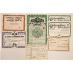 Small grouping of various railroad stock certifictes  105790