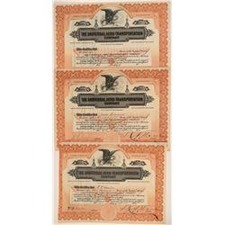 Universal Aero-Transportation Co. Stock Certificate Trio  106837