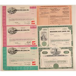 Western Air Lines, Inc. Stock Certificates  106906