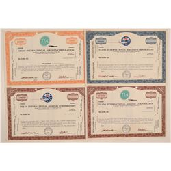 Trans International Airlines Corp. Specimen Stock Certificates (4)  106838