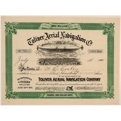 Toliver Aerial Navigation Co. Stock Certificate  106831