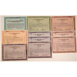 U.S. Airlines Inc. Stock Certificates  107418