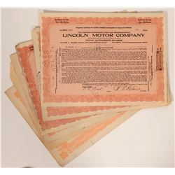 Lincoln Motor Company Stock Certificates  107530