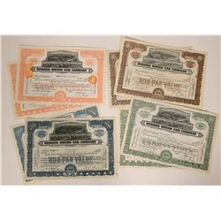 Hudson Motor Car Company Stock Certificates  107591