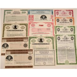 TWA (Trans World Airlines) Stock & Bond Collection  107416