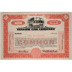 Yellow Cab Company Specimen Stock Certificate  107589