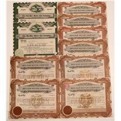 Ben-Hur Motor Car Company Stock Certificates  106902