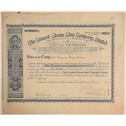 Cunard Steam Ship Company Limited 1927 English Stock Certificate  105853