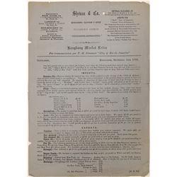 1893 Hong Kong Market Letter for Transmission to New York  105904