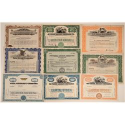 Aircraft Company Stock Certificates (9)  106697