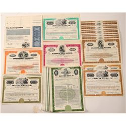 Airlines - Pan Am, American, United & TWA stock Certificates (84)  106192
