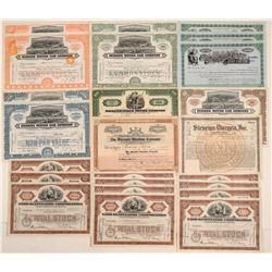 Automobile Stock Certificate Collection (Nash, Rickenbacker, Hudson, Mercury, Ohio) (24)  106841