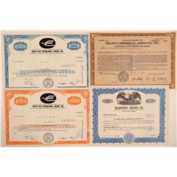 Foreign Airlines Stock Certificate Group  106909