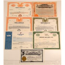 Miscellaneous Airline Stock Certificates  106910