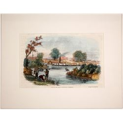 View of the Town of Marysville, California Lithograph  74589