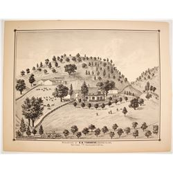 E.B. Townsend Residence Lithograph  82443