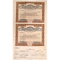 First National Bank of Orange County Stock Certificates  108574
