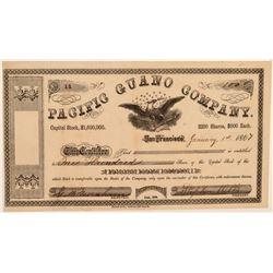 Pacific Guano Company Stock Certificate  106774