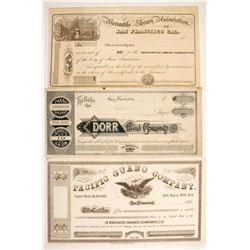 Three Early California Stocks  88178