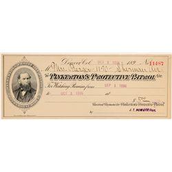 Rare Pinkerton Protective Patrol Check  104529