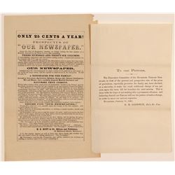 Baltimore Newspaper and Rockford Seminary Billheads  104536