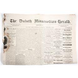 1876 Duluth Newspaper  63909