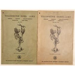 Two Good Historical reference Telephone Directories  105849