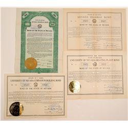 Nevada 1900's Highway Bonds - including RARE Green  105780