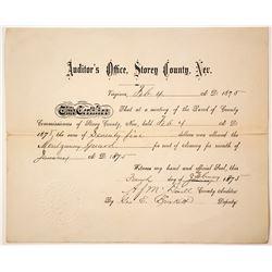 Montgomery Guard Document, Virginia City, Nevada  77378