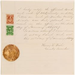 Official Notary Public Appointment with Nevada 5c Revenue Stamp  105761