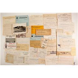 Nevada Billheads, Letters and Ephemera  89871