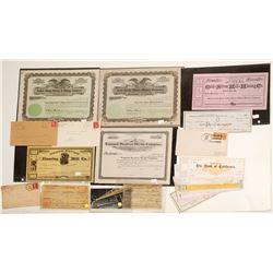 Nevada Mining Ephemera-Checks, Stocks, Postal History  61357
