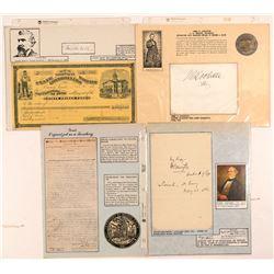 Nevada Territory & Statehood Autographs  107274