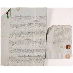 1851 Pennsylvania Legal Document, Matthias Aspden  56342
