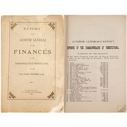 Report of the Auditor General on the Finances of the Commonwealth of Pennsylvania  81405