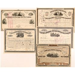 Assorted Railroad Stocks (5)  109547