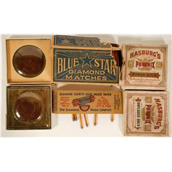 Box of Stick Matches and Hasburg's Roman and Unfluxed Gold  90984