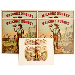 Gold Hunter / Welcome Nugget Labels  81305
