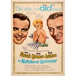 Notorious Landlord Poster with Jack Lemon Sig  102711