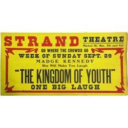 Madge Kennedy, Strand Theatre Broadside  85139